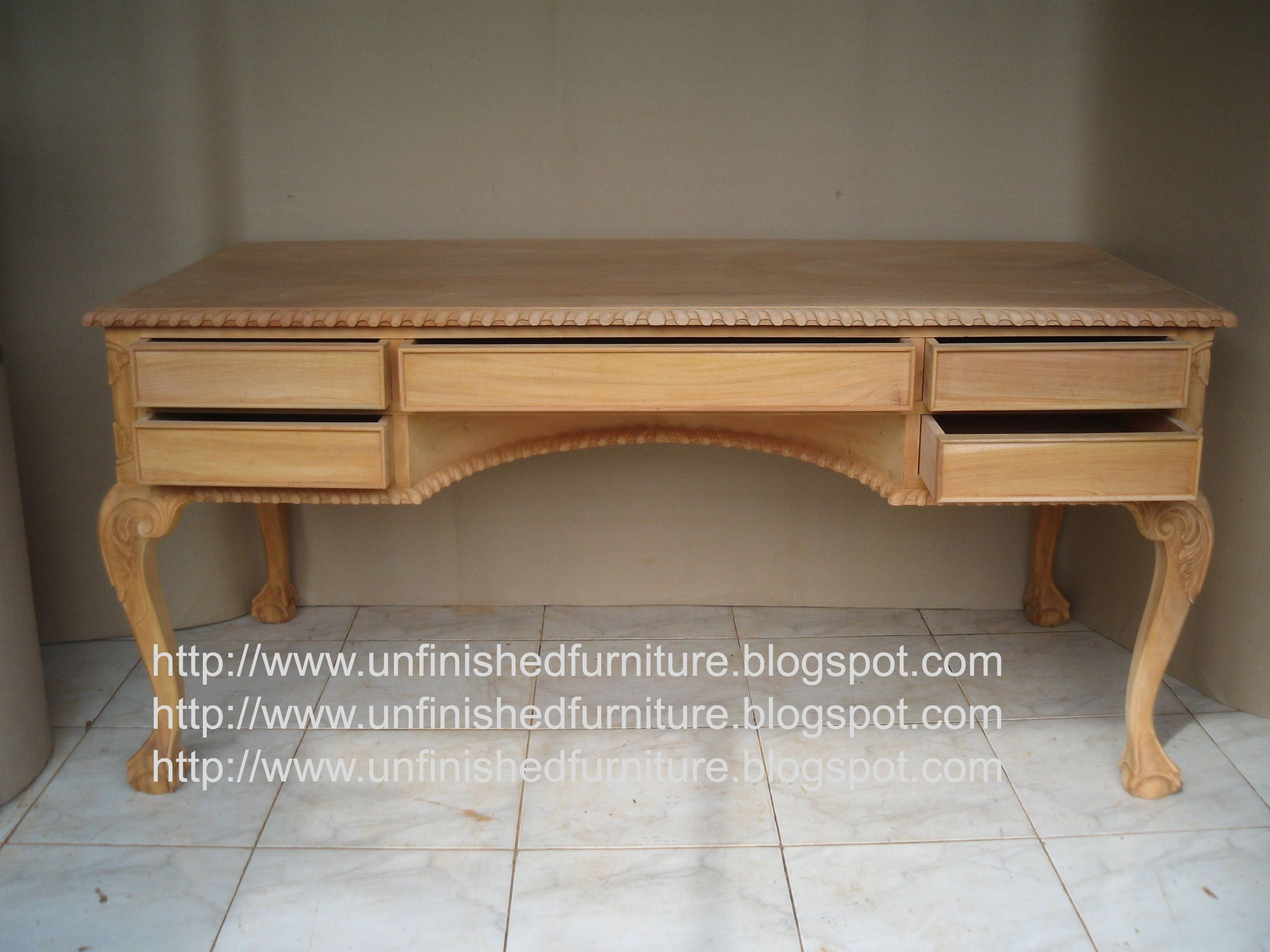 Unfinished Mahogany Furniture Chippendale Writing Table 5 Drawer Made Of Fine Solid Kiln Dry Mahogany Wood Present In Unfinished Furni Italian Style Furniture