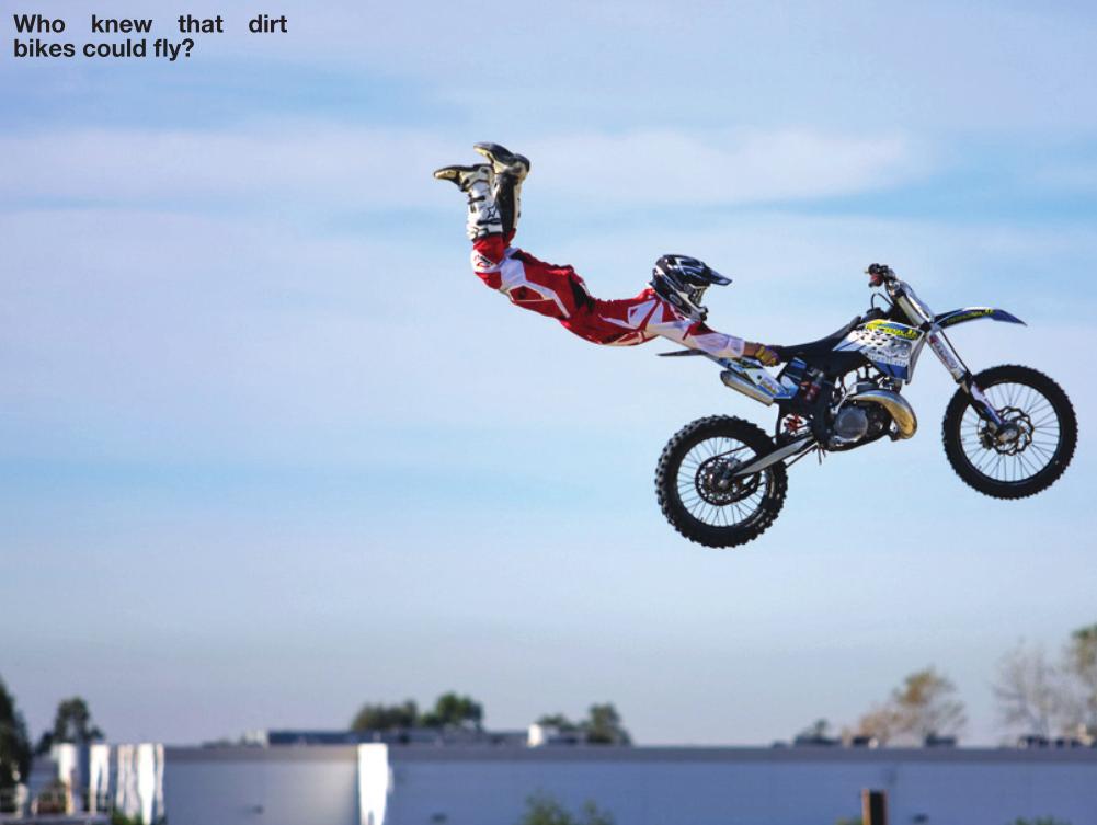 Motorcycle Dirt Bike Tricks Dirt Bike Superman Riding A Dirt
