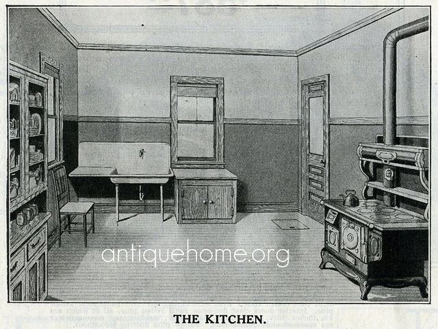 Sears House Kitchen - 1916 | Modern home furniture, Bungalow ...