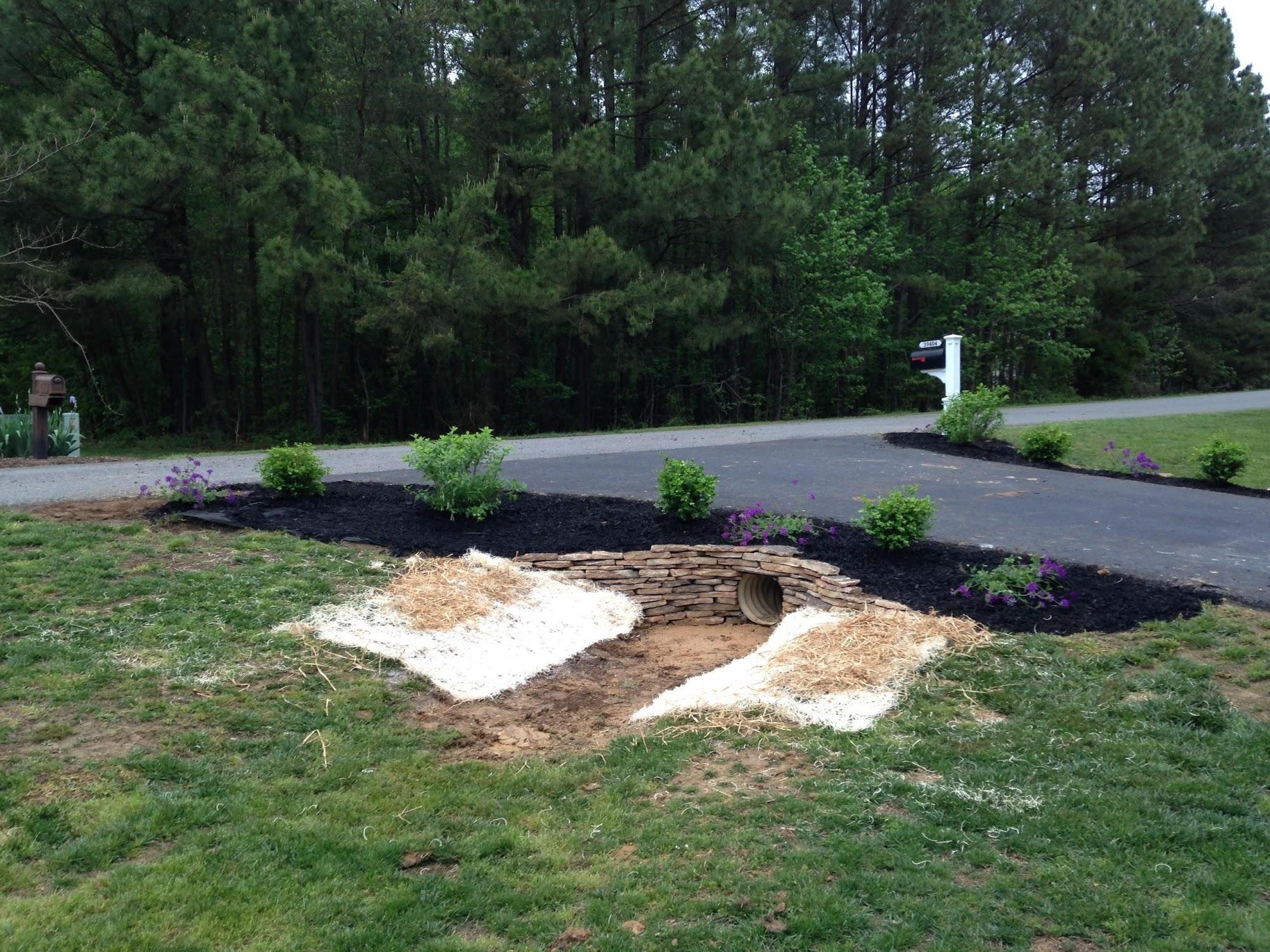 Driveway Culvert Landscaping | Driveways, Landscaping and Garden art