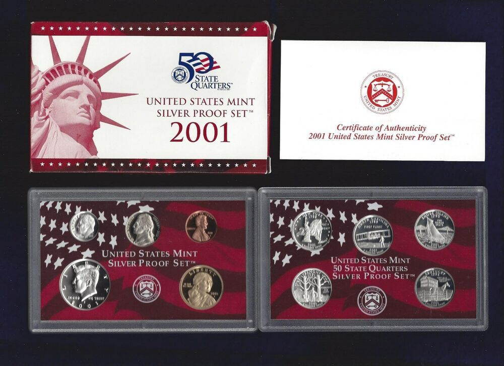 Mint Made in Red Mint Box with COA 2010-s U.S SILVER Proof Set U.S