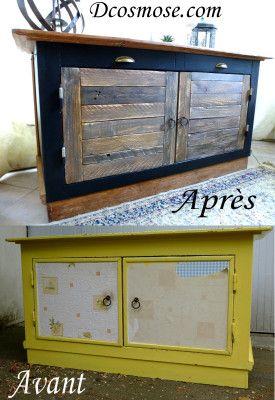 avant apr s buffet noir restauration de meubles mobilier de salon relooking meuble avant. Black Bedroom Furniture Sets. Home Design Ideas