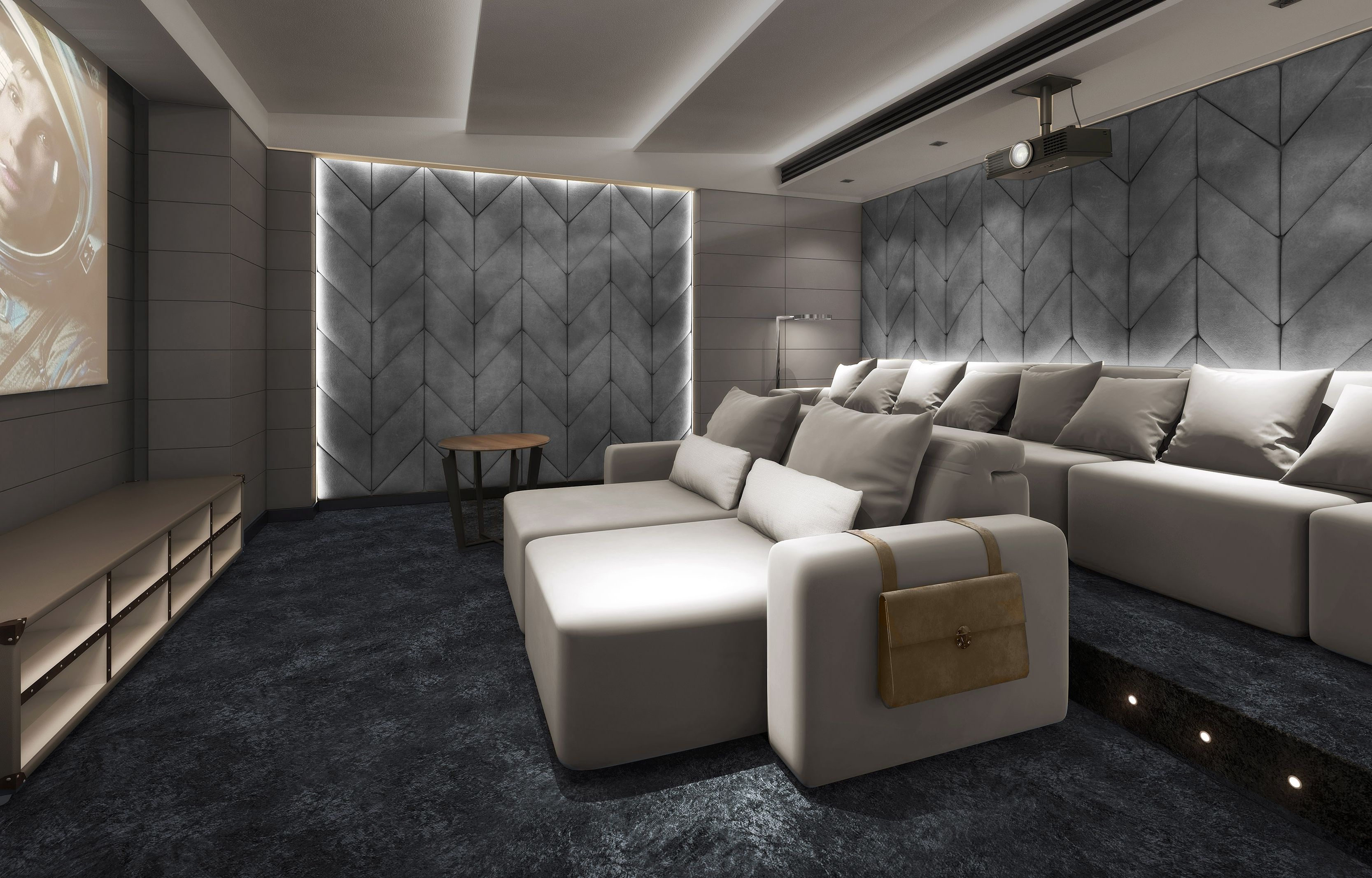 Luxury Cinema Room with cinema seating that is like no other These