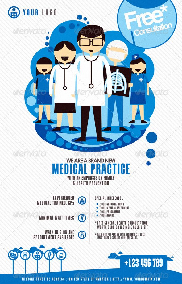 Modern Medical Flyer Print Template | Flyer Printing, Print