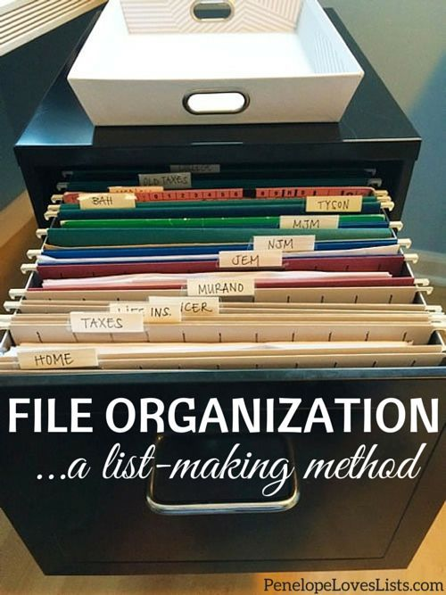 From Outlined List To Organized Bliss My New Filing System