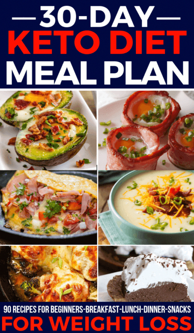 90 Keto Diet Recipes This 30-day keto meal plan is perfect if you're new to the ketogenic diet or if you are looking for delicious keto recipes to add to your weekly meal plan! With over 90 easy breakfast, lunch, and dinner recipes you'll find great tasting low carb meals for every day of the month! From easy crockpot keto recipes to vegetarian and dairy-free options-this meal plan has you covered!