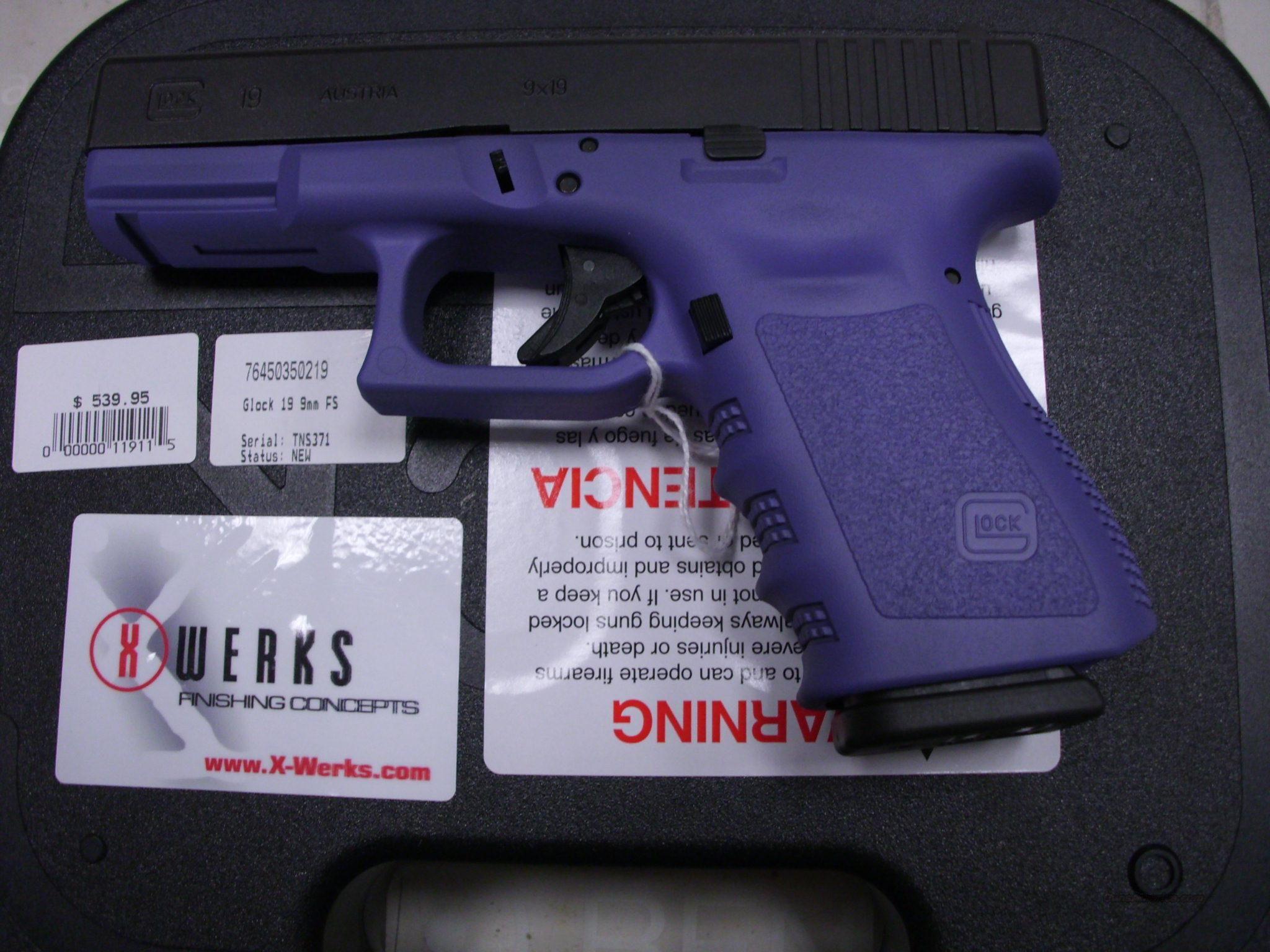 Glock 19 9mm And Its Purple 3 I Want It I Want It I Want It