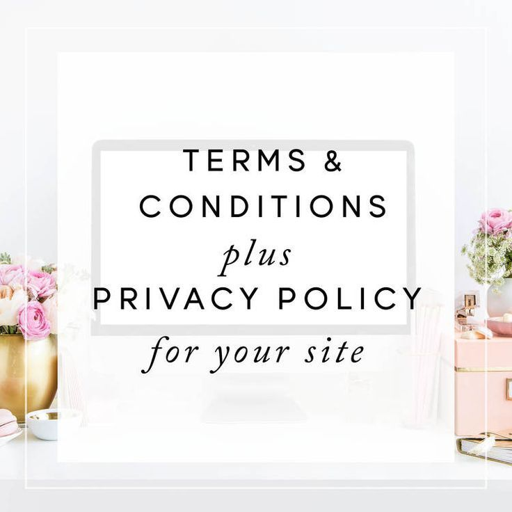 Terms \ Conditions + Privacy Policy for Your Website Privacy policy - privacy policy sample template