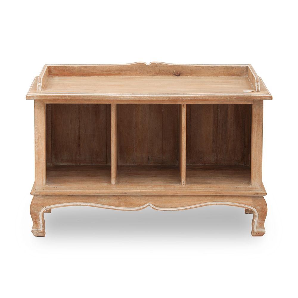 Benzara upt38310 wooden storage bench lowes canada