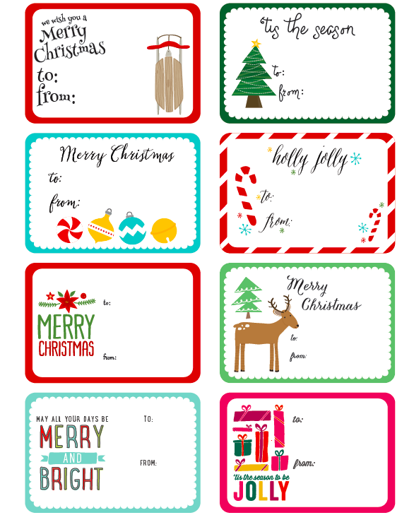 image regarding Free Printable Christmas Tags Templates referred to as International Label One of a kind Xmas Present Tag Printable Elsie