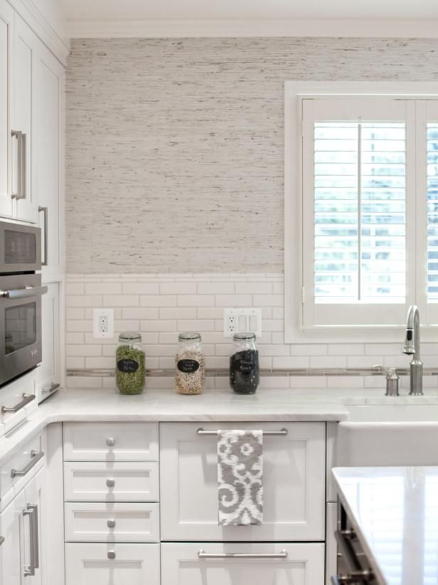 Wallpaper Ideas For Every Design Style Hgtv Modern Kitchen Wallpaper Kitchen Wallpaper White Shaker Cabinets