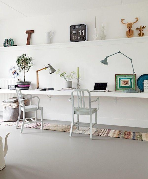 Forbo Marmoleum Gray Floor, Remodelista - Kantoor | Pinterest ...