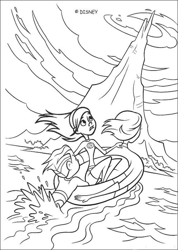 A coloring page of the Disney movie The Incredibles. Here Elastigirl ...