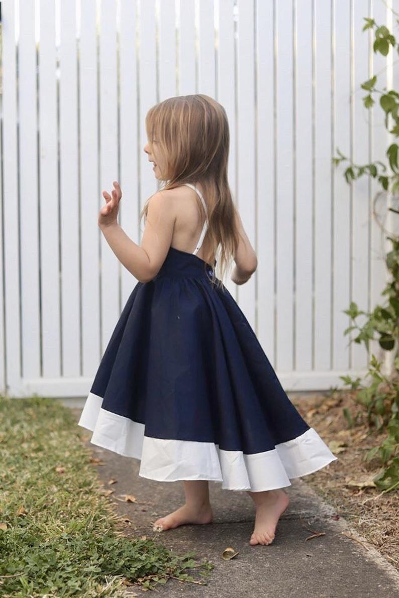 The Navy Clara Dress Girls Party Dress Girls Dresses Etsy In 2021 Cute Dresses For Teens Girls Formal Dresses Dresses Kids Girl [ 1191 x 794 Pixel ]