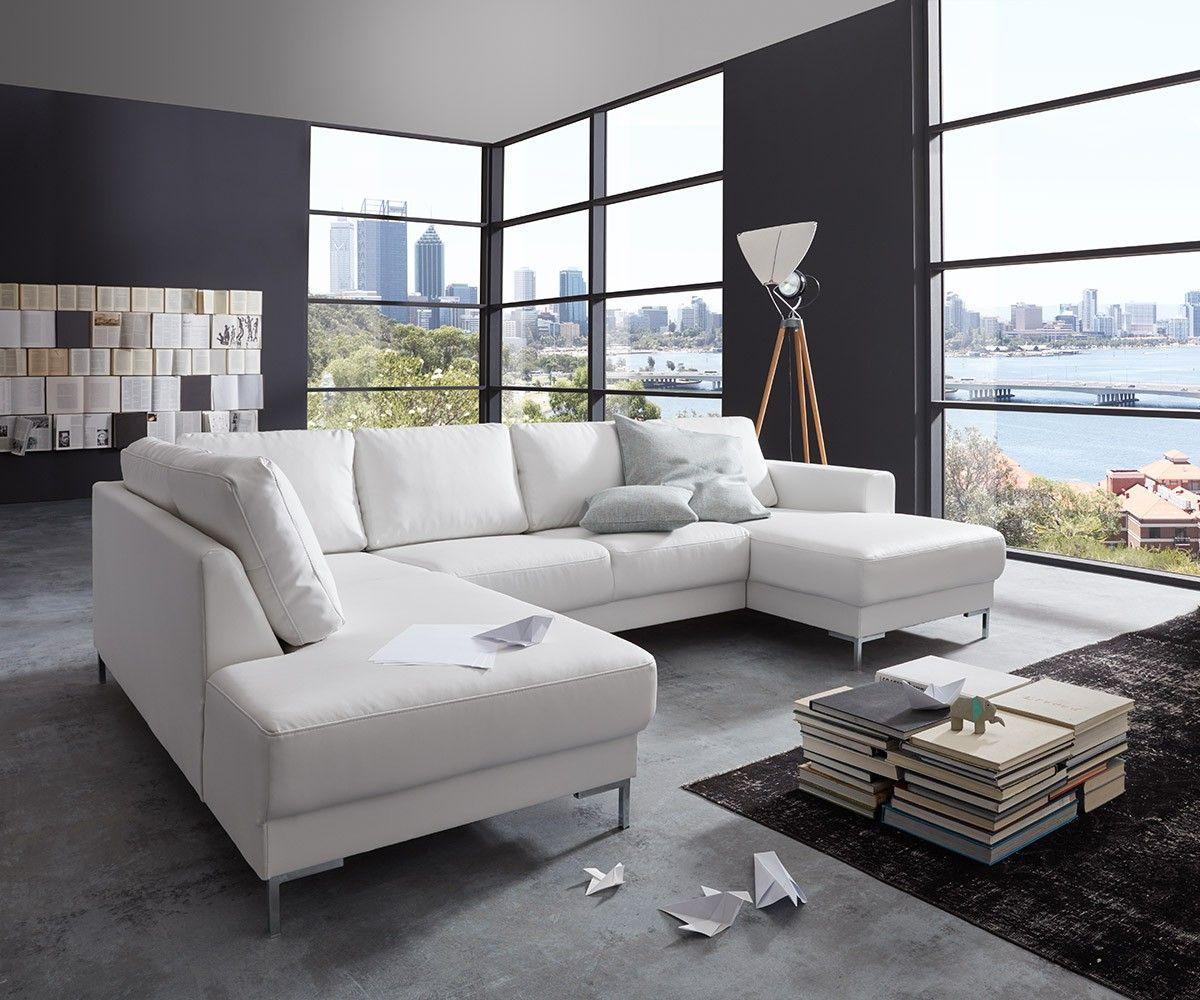 delife designer wohnlandschaft silas 300x200 weiss. Black Bedroom Furniture Sets. Home Design Ideas
