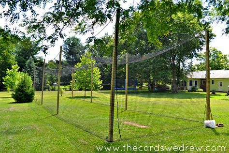 How to Build a Batting Cage {Part Two} | Batting cage ...