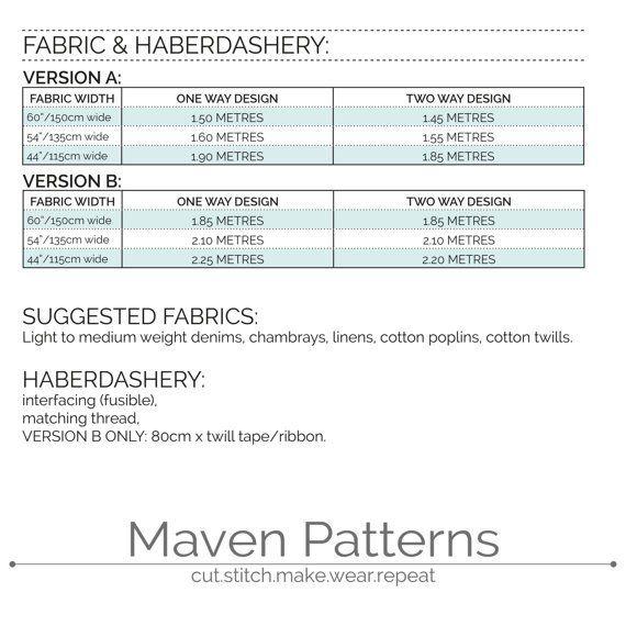 The Maria Apron Sewing Patterns Pdf Sewing Patterns Pattern