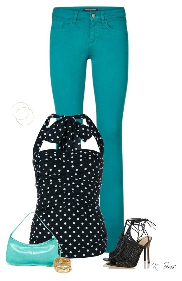 """Colored Jeans"" by ksims-1 ❤ liked on Polyvore featuring Comptoir Des Cotonniers, Dolce&Gabbana, Gianvito Rossi, HOBO and ABS by Allen Schwartz"