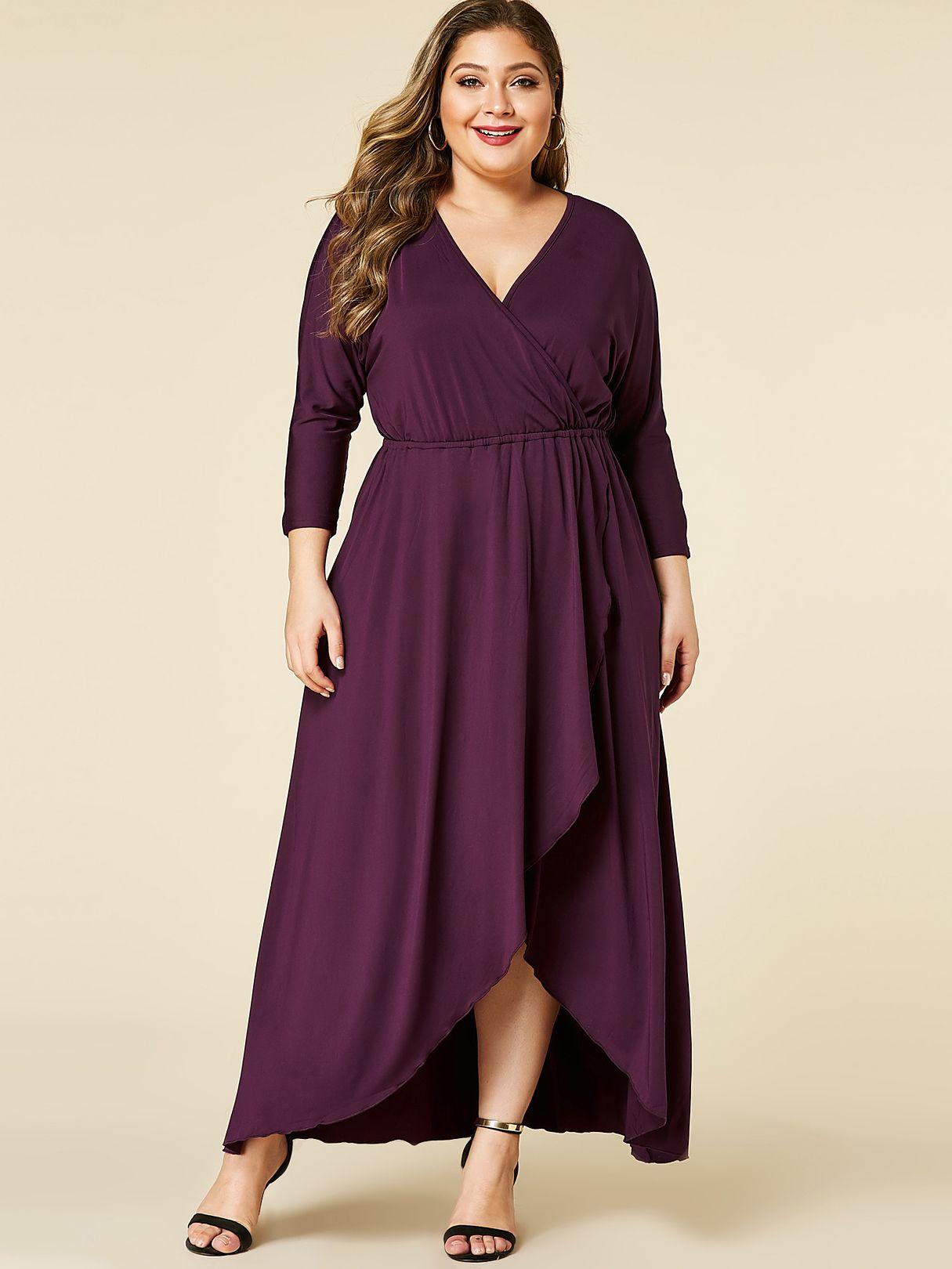 Deep v neck long sleeve dress mixed shop long sleeve