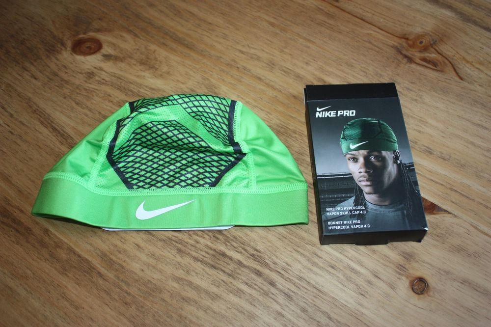 b8c90df97c66b NEW NIKE PRO HYPERCOOL VAPOR SKULL CAP 4.0 DRI-FIT GREEN HEAD WRAP FOOTBALL   Nike
