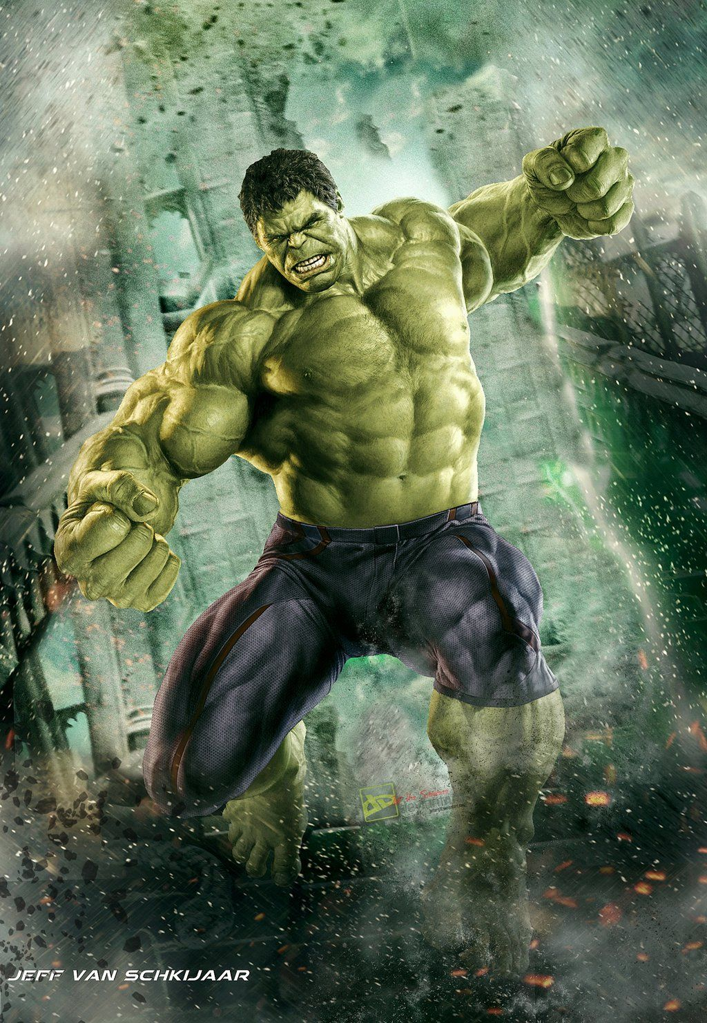 Hulk Fan Art. (Hulk Avengers Age Of Ultron Poster) By