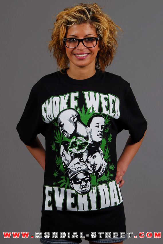 "WWW.MONDIAL-STREET.COM   Tee shirt streetwear ""Smock Weed Evryday"" marque NWA sur vôtre e-shop www.Mondial-Street.com   1 2 3 VIVA MONDIAL-STREET !"