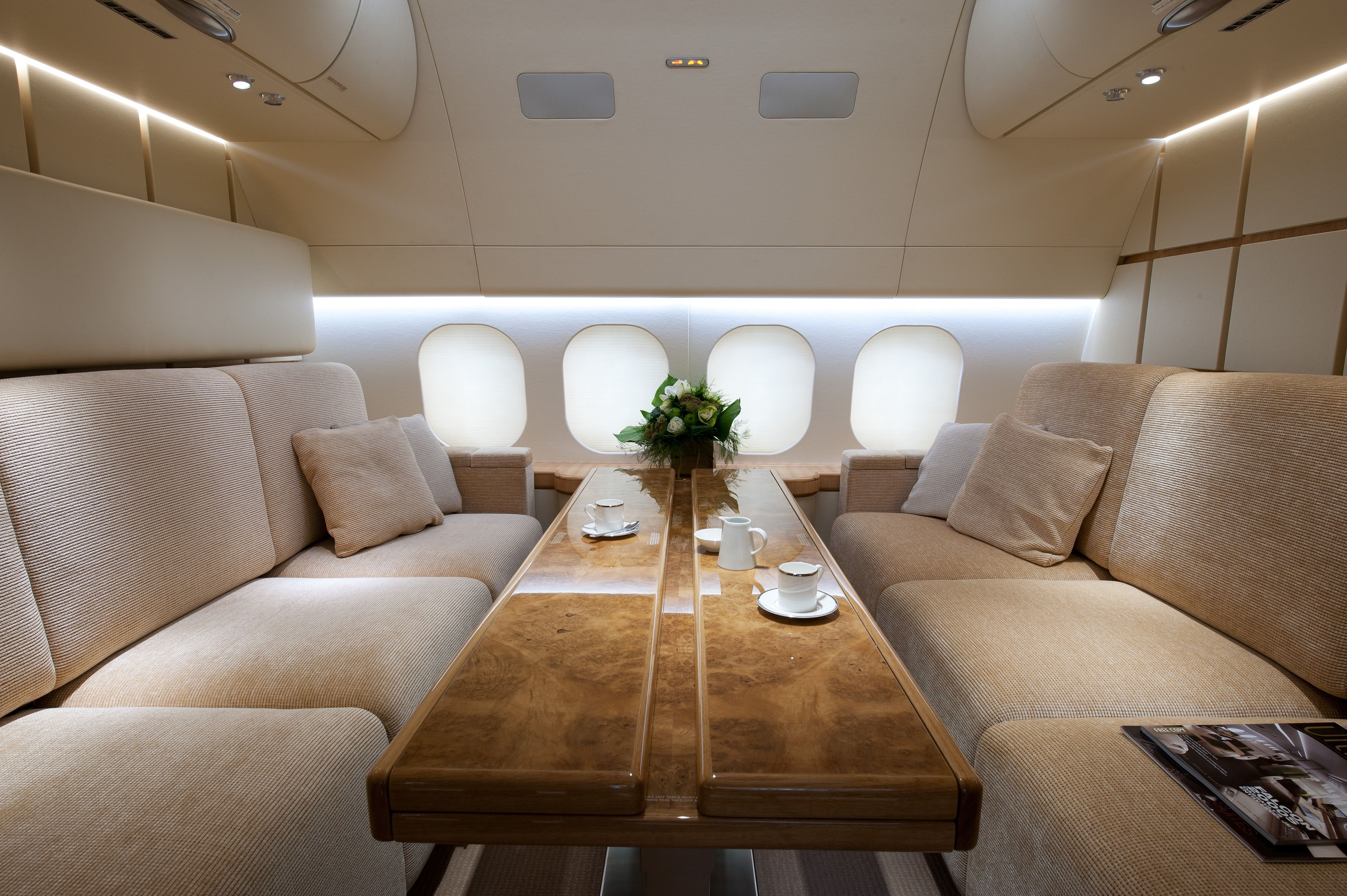 Boeing 757 256 guest room by ed se doret private jet for Interieur boeing 757