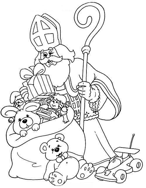 Kleurplaten Sinterklaas En Pieten.Sinterklaas Kleurplaten Sinterklaas En Zwarte Pieten Pakken