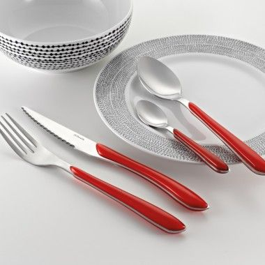 We Love The Red Handled Flatware By Amefa