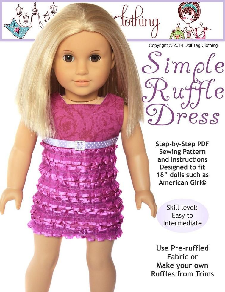 Free Sewing Pattern: Simple Doll Ruffle Dress   Sewing Essentials ...