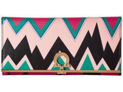 Salvatore Ferragamo - 22C686 (Neutral X/Multicolor/Nero/Chevron/Multicolor) Handbags