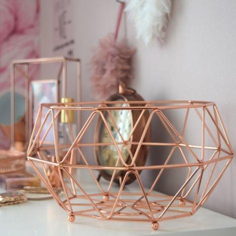 corbeille cuivr e d co rose cuivr pinterest vase blanc deco centre de table et corbeille. Black Bedroom Furniture Sets. Home Design Ideas