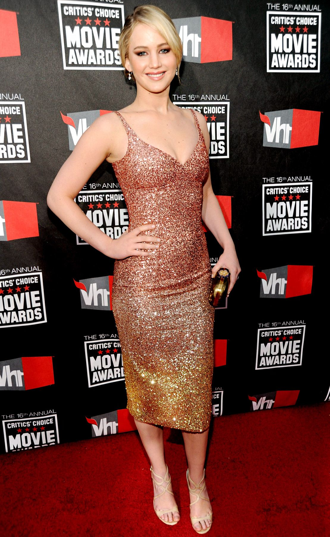 Jennifer lawrences best dresses pinterest jennifer lawrence jennifer lawrence at the 16th annual critics choice movie awards voltagebd Image collections