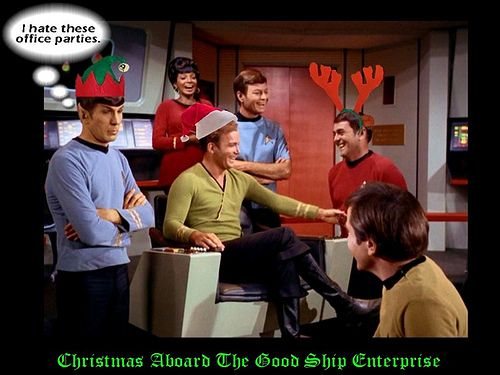 Christmas Aboard The Enterprise star trek christmas christmas tree ...