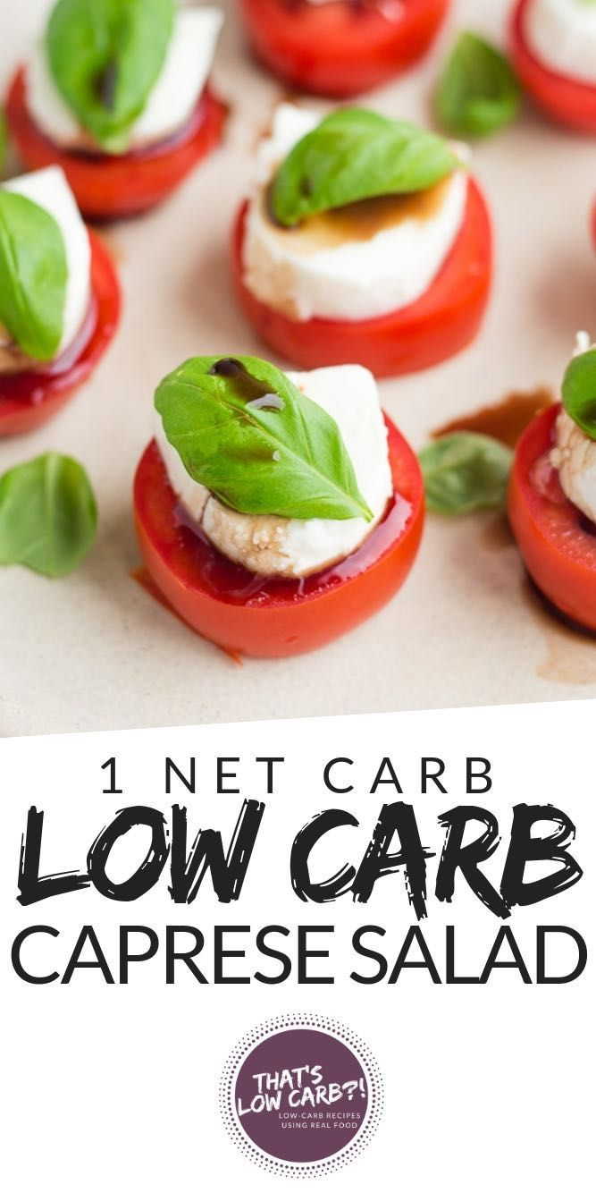 Keto Caprese Salad made with just 4 ingredients. Making this the easiest and most delicious salad and snack to make when in a hurry. via @thatslowcarb