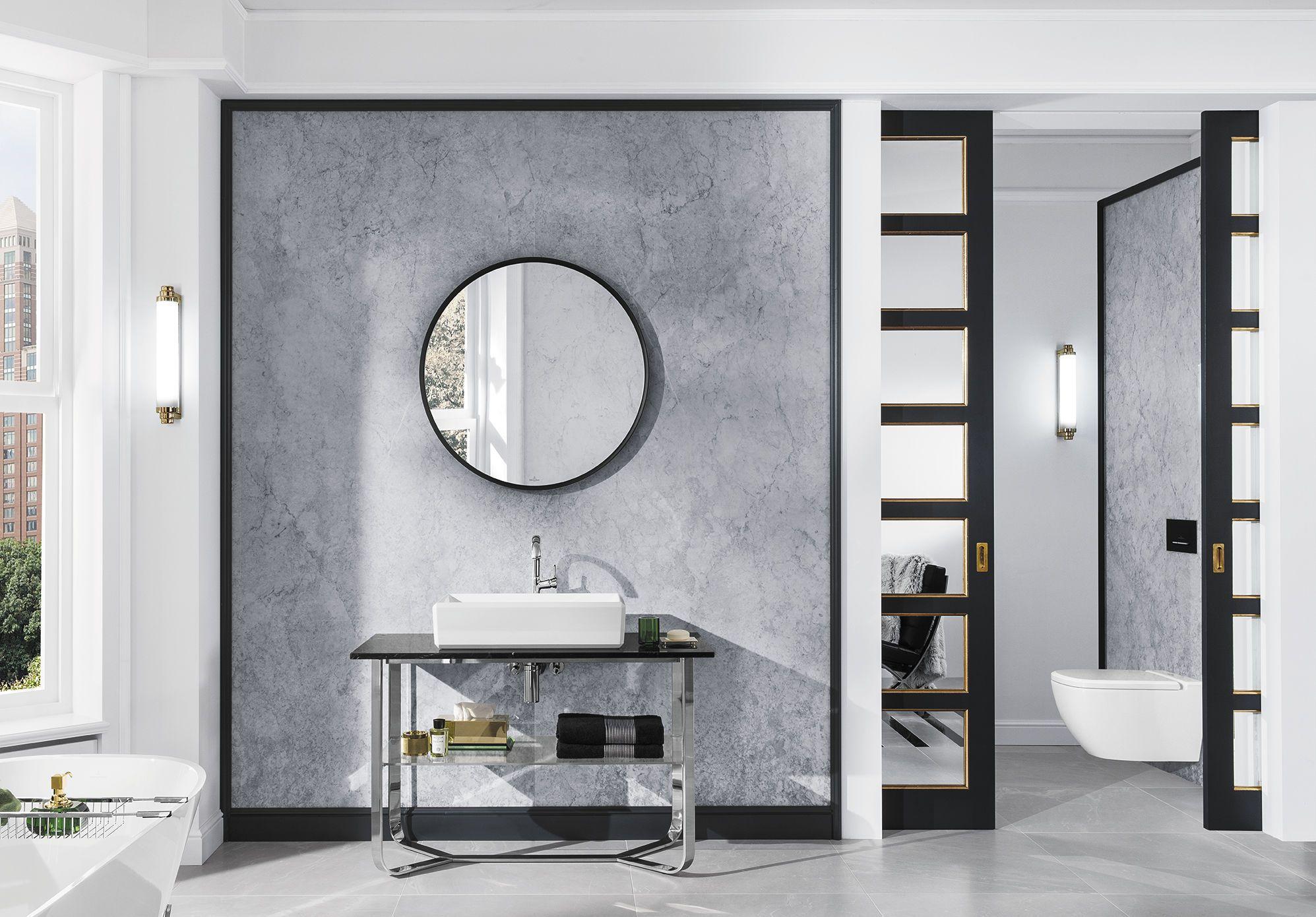 Baño moderno / de cerámica / de mármol / de acero ...