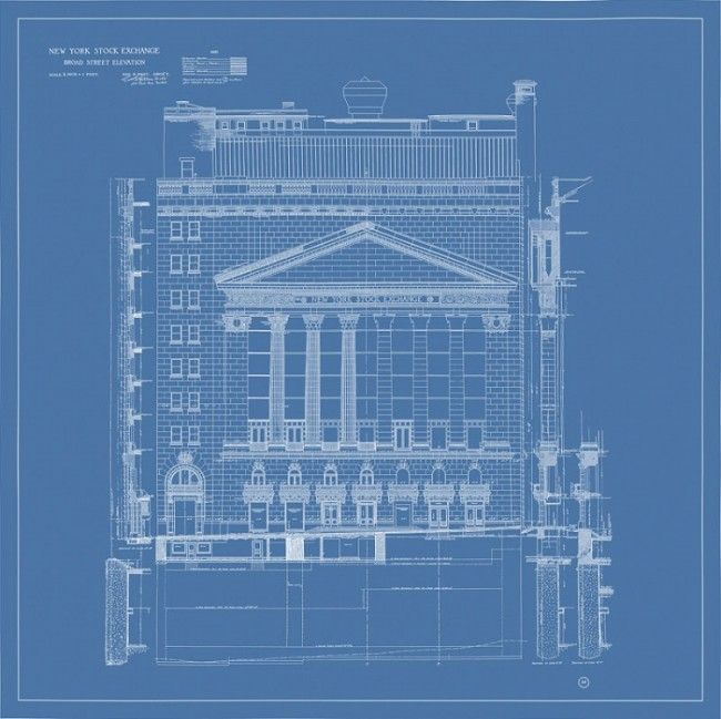 New York Stock Exchange Blueprint Wall Street Pinterest - new no blueprint meaning