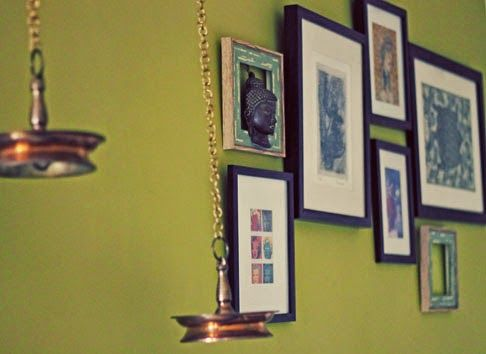 Home Improvement, wall of frames, using picture frames, Indian ...