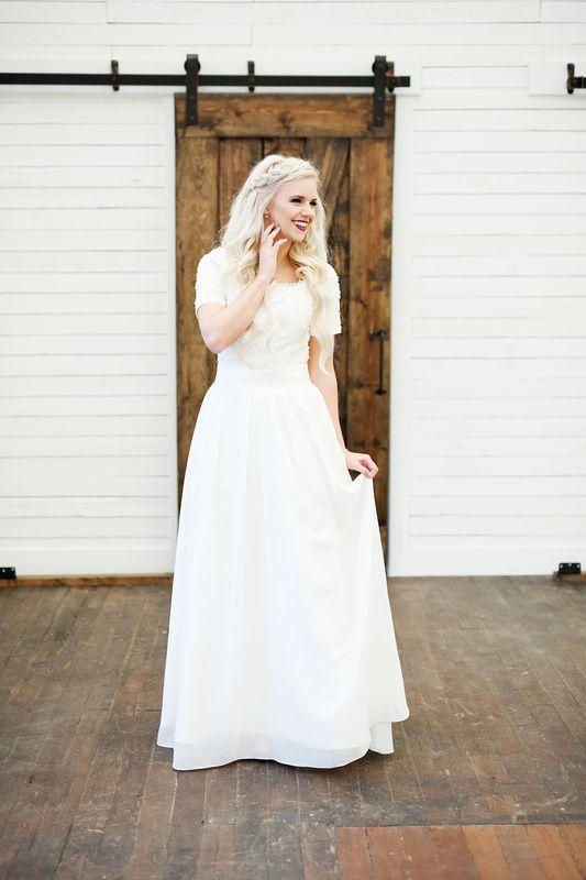 Elizabeth Cooper Design wedding gown Solène   modest wedding dress ...