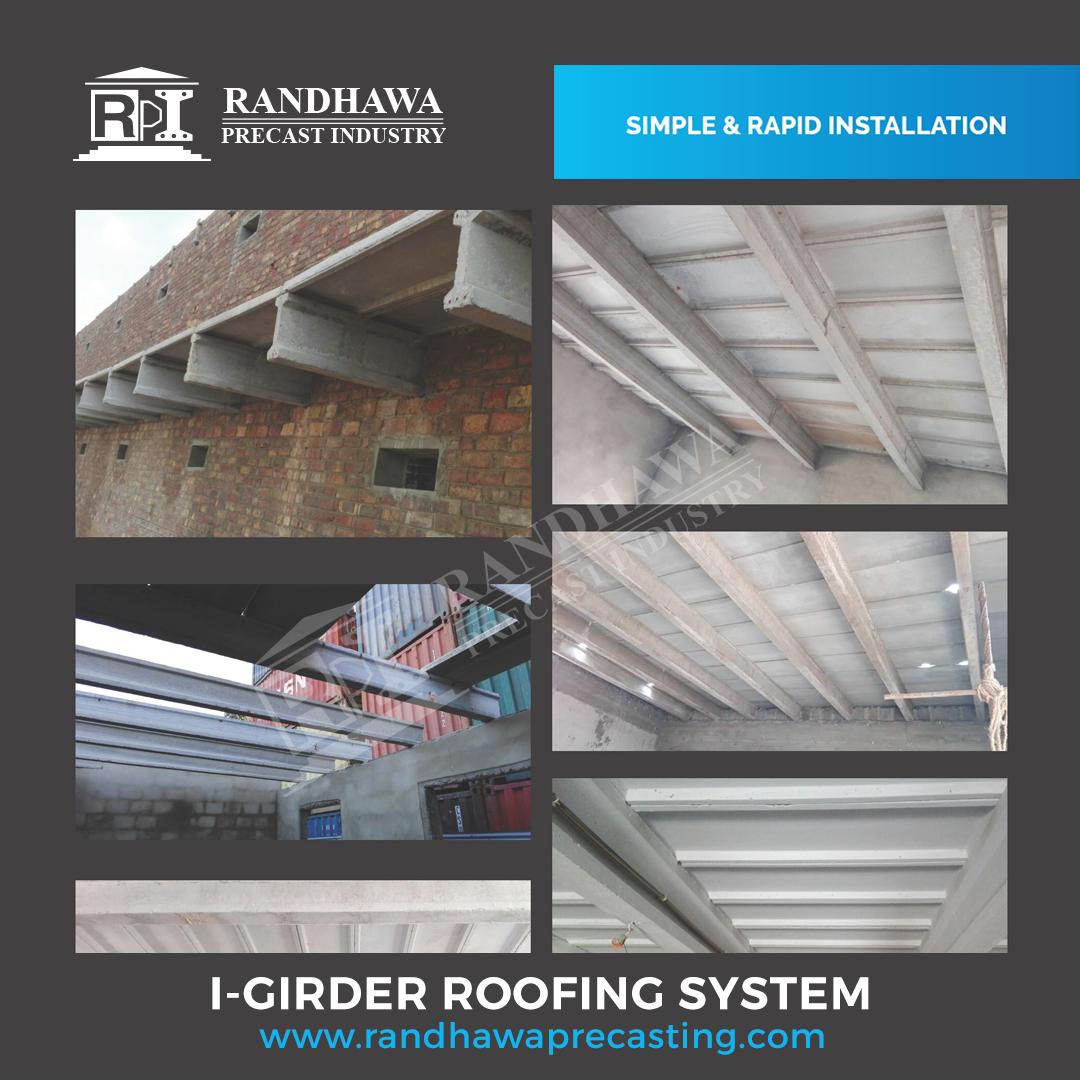Randhawa Precast I Girder Roofing System Randhawa Precast Concrete Industries Possess The Years Of Experience Precast Precast Concrete Roofing Roofing Systems
