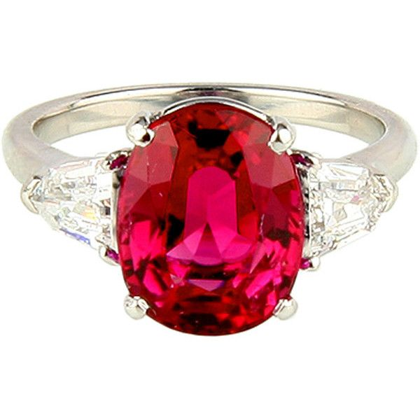 Ruby and Diamond Ring ❤ liked on Polyvore featuring jewelry, rings, oval diamond ring, oval ruby ring, bullet ring, ruby diamond ring and ruby ring