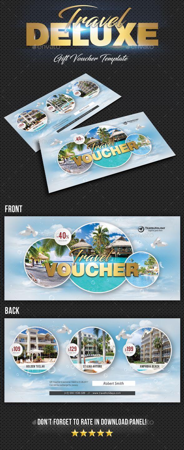 travel tour gift voucher cards invites print templates