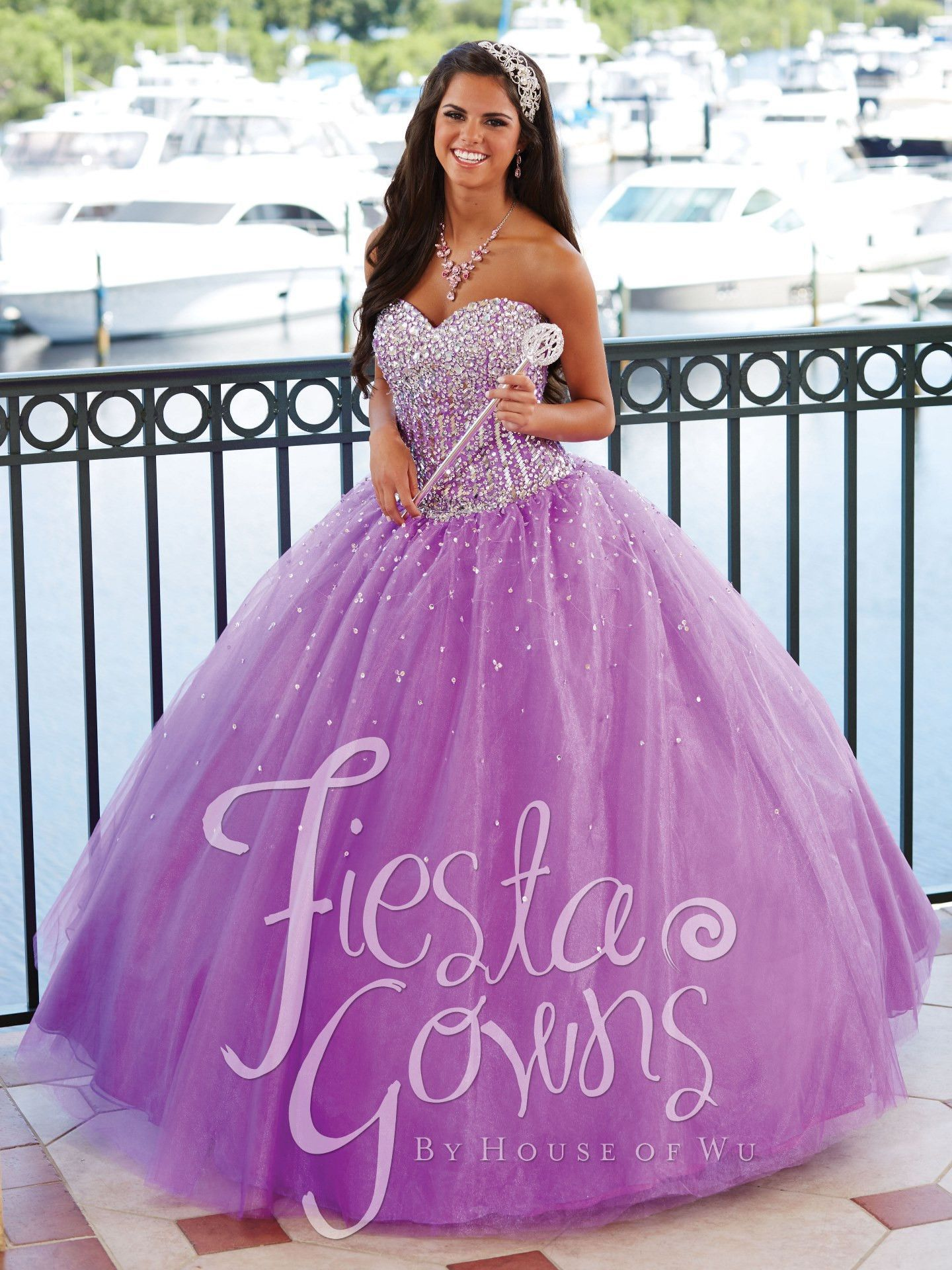 Fiesta Quinceanera Dress by House of Wu Style 56244 | dresses ...