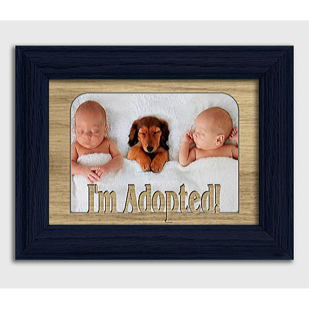 I'm Adopted! Tabletop Baby Picture Frame Holds 4x6 Photo