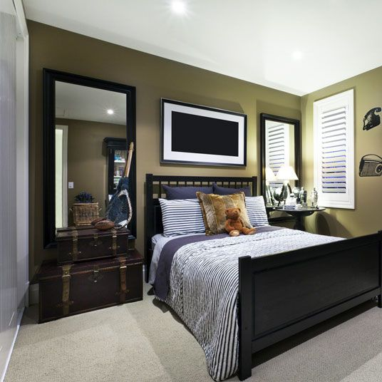 interesting bedroom mirrors | Make the bedroom wall interesting with two large wall ...