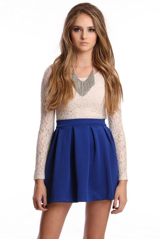 Scuba Skater Skirt Blue- cute cute cute :)