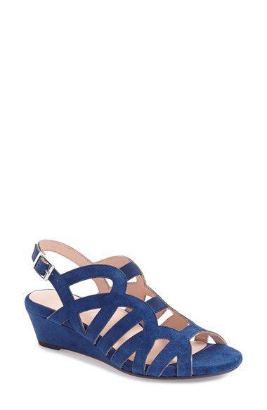 825d8ec6350 TARYN ROSE  Shel  Suede Wedge Sandal (Women).  tarynrose  shoes  sandals