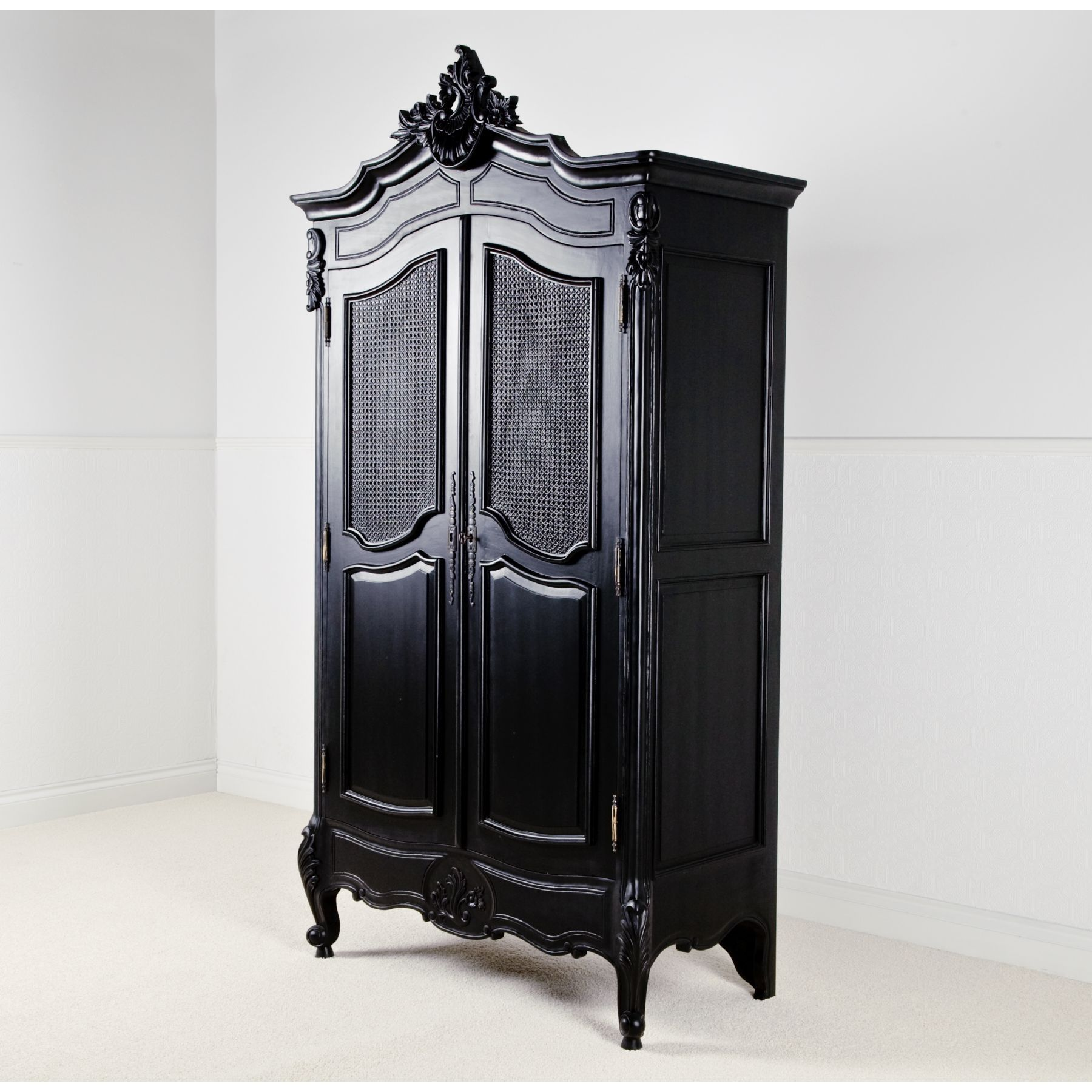 Wardrobes armoires la rochelle black antique french wardrobe