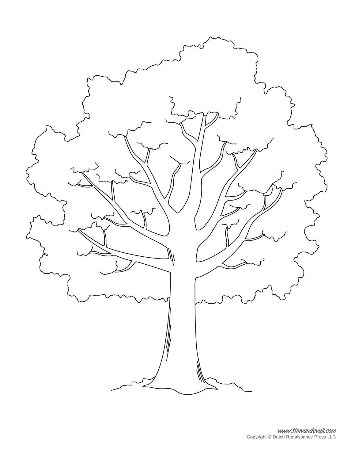 Tree Templates Tree Printables art Pinterest Tree