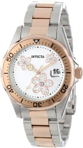 Invicta Women's 12507 Pro Diver Silver Dial Crystal Accented Two Tone Stainless Steel Watch Invicta,http://www.amazon.com/dp/B00A6KX0QA/ref=cm_sw_r_pi_dp_g6hSsb0GMAW0K3EP I like it!